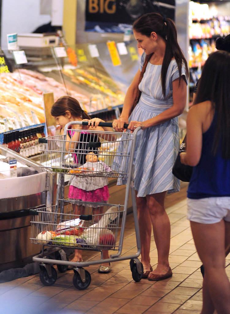 Katie Holmes and Suri Cruise perused the aisles at Whole Foods in NYC.