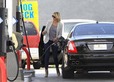 Cameron Diaz refueled her car.