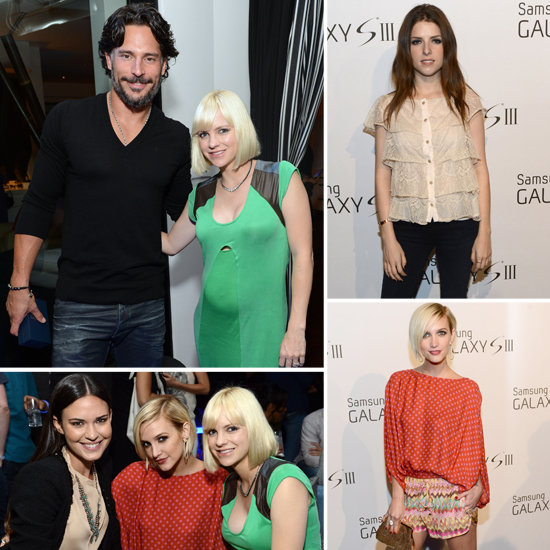 Pregnant Anna Faris Celebrates Samsung With Ashlee, Joe, and More