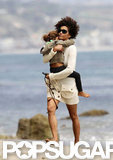 Halle Berry and Nahla Aubry hit the beach during a Malibu day.