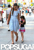 Katie Holmes held Suri Cruise's hand on the streets of NYC.