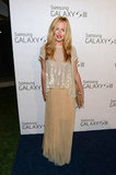 Cat Deeley was equal parts glamazon and easy Summer styler in a chiffon maxi skirt and sequins.