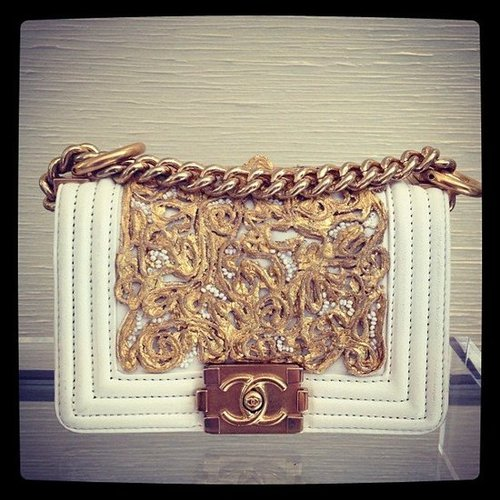 We imagined our fashion world would be totally complete with this gorgeous little Chanel bag in our closets.