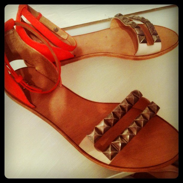 Rebecca Taylor put forth a pair of totally awesome studded Resort sandals that we love so much, we wish we could wear them now.