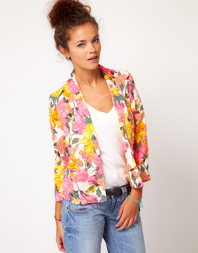 Pair this sweet floral blazer with a pair of dark denim skinnies or crisp white shorts. River Island Floral Print Blazer ($66)