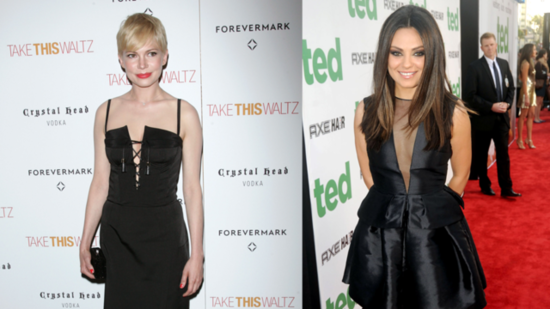 Mila Kunis and Michelle Williams Give Us Two Takes on the LBD