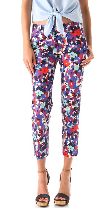 Sport these cropped floral pants with a silky white button-down and sleek heels for a day at the office. Tory Burch Tribley Pants ($250)