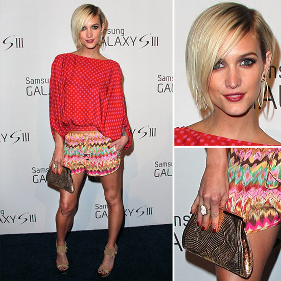 Ashlee Simpson outfits a cool play on bold, bright prints — shop it now.