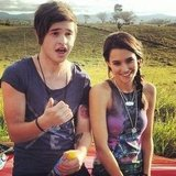 Reece Mastin and Rhiannon Fish were together on set. Source: Twitter user reecemastin