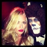 Cat Deeley posed with a human teddy bear. Source: Instagram user catdeeley