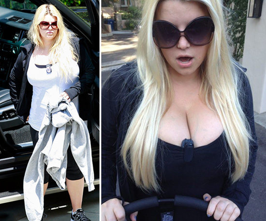 "Jessica Simpson Shares ""Street Legal"" Cleavage Out With Maxwell"