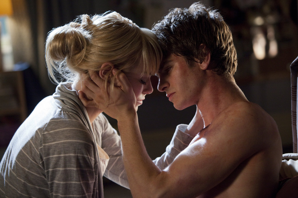 Emma Stone and Andrew Garfield in The Amazing Spider-Man.  Photo courtesy of Sony