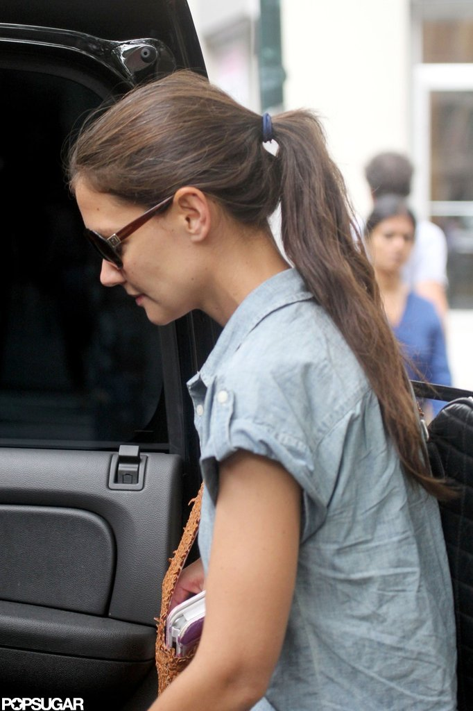Katie Holmes was spotted hopping into her car in NYC.