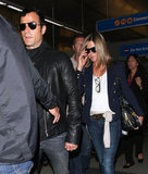 Jennifer Aniston wore a diamond ring at LAX.