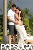 Pregnant Megan Fox and her husband, Brian Austin Green, celebrated their second wedding anniversary.