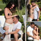 Pregnant Megan Fox Poses in a Bikini and Shows PDA With BAG