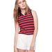 This striped polo has the nostalgic feel of that '70s-cool tennis dress.