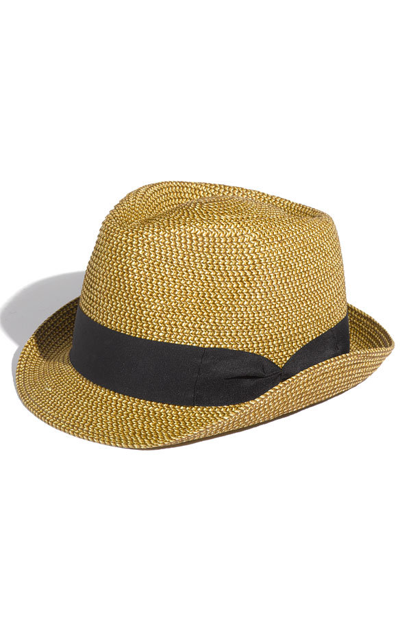 Top off your pleated dresses and button-downs with a hat that speaks more to the spectator-sport side of Wimbledon.  David & Young Straw Fedora ($22)