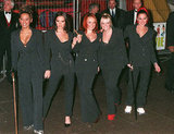 The Spice Girls stepped out in coordinating ensembles for the December 1997 premiere of their movie Spice World.