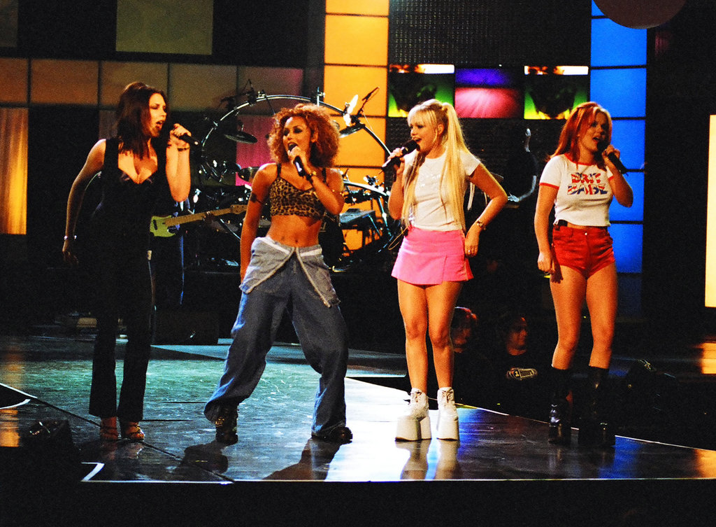 The ladies practised their hot dance moves at a rehearsal for the September 1997 MTV VMAs in NYC.