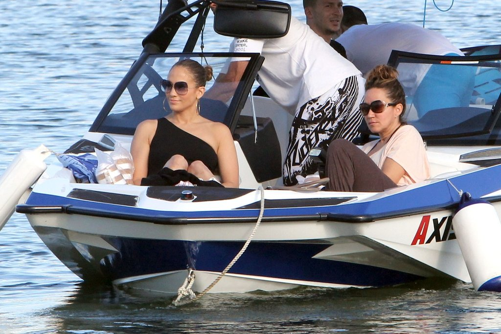 Jennifer Lopez Makes a Splash With Max, Emme, and Casper Smart