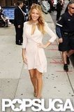 Blake Lively Sizzles in White at the Late Show