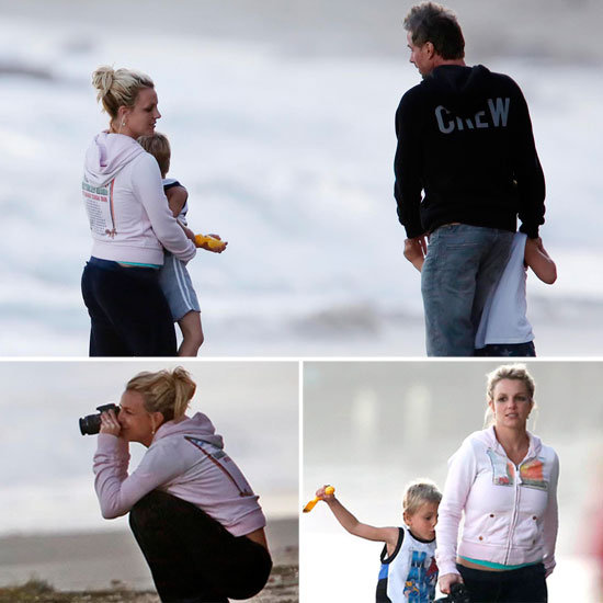 Britney Spears Snaps Sweet Moments on the Beach With Her Boys