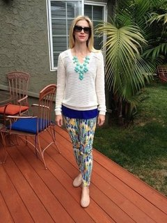 Jeans- Current Elliot, Tops- Aqua by Bloomingdales, Shoes - Tory Burch, Glasses- Bulgari, Necklace- Ebay