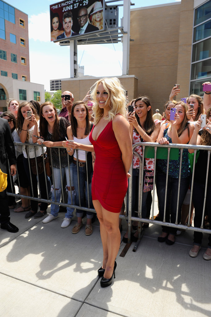 Britney Spears Makes a Red-Hot X Factor Appearance
