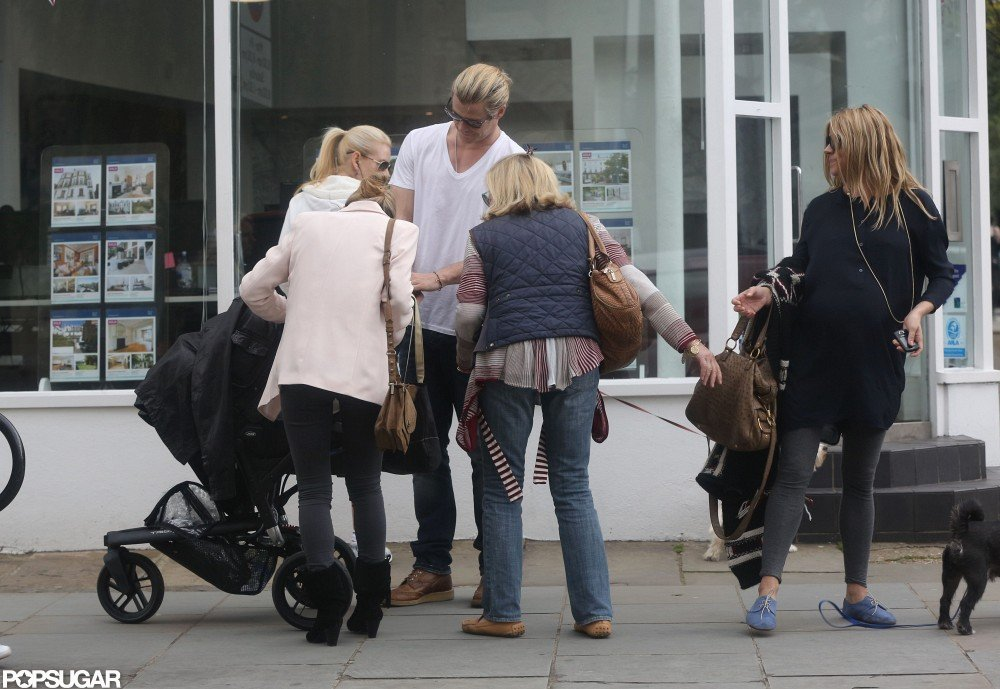 Sienna Miller's mother gushed over Chris Hemsworth and wife Elsa Pataky's baby India in London.