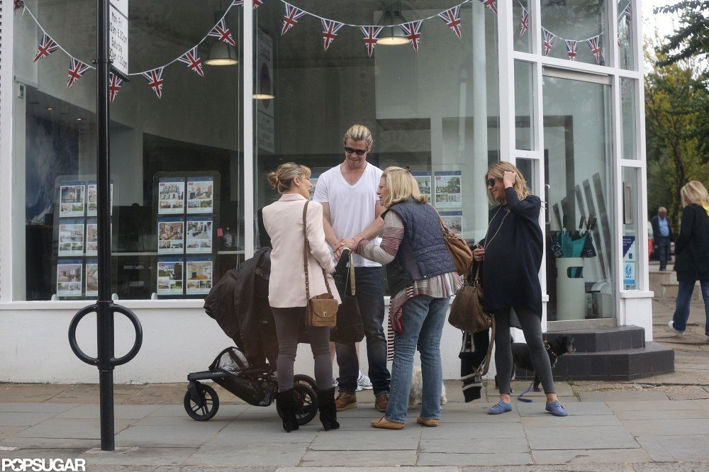 Chris Hemsworth and Sienna Miller chatted in London.
