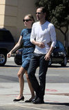 Kate Bosworth and Michael Polish looked sweet together as they walked in LA.