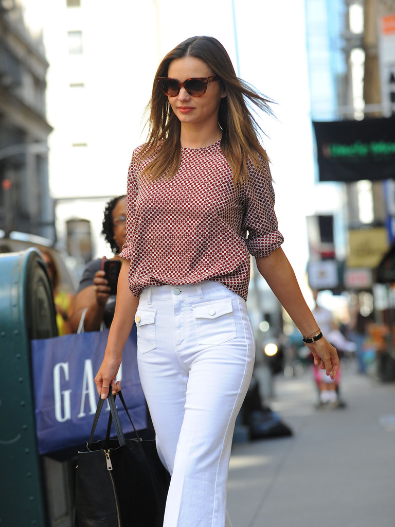 Miranda Kerr hit the pavement in NYC.