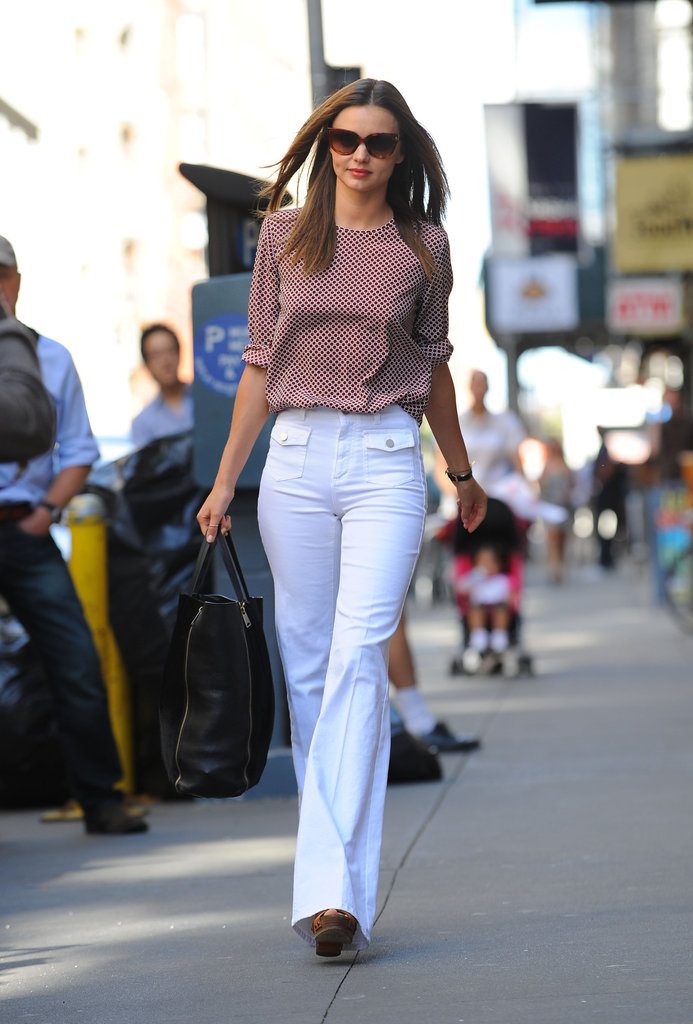 Miranda Kerr strolled through NYC.