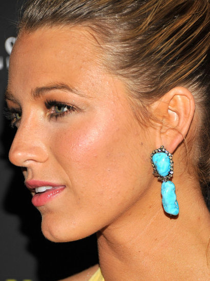 A closer glimpse of Blake Lively's statement earrings.