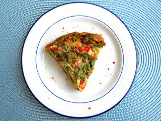 Mexican Crustless Chickpea Quiche