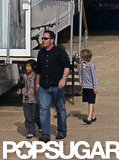 Pax Jolie-Pitt and Shiloh Jolie-Pitt went to see the Maleficent set.