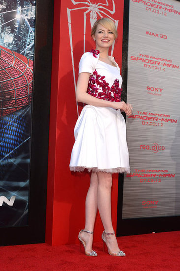 Emma Stone Wows in White Chanel at The Amazing Spider-Man Premiere in LA