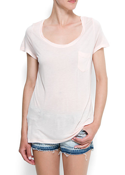 Loose-fitted, lightweight, and preferably semisheer (why not?) — all humid-weather  clothing musts. Instead of your go-to white tee, which is totally fine, try out a sweet pink t-shirt to go with your shorts. Mango Loose-Fit T-Shirt ($20)