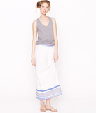 We're kind of obsessed with model Liya Kebede's line of handmade garments, and this airy linen maxi skirt provides stylish sanctuary from the heat. Not to mention, the bright pop of striped color at the hemline is too cute. Lemlem Maxiskirt ($213)