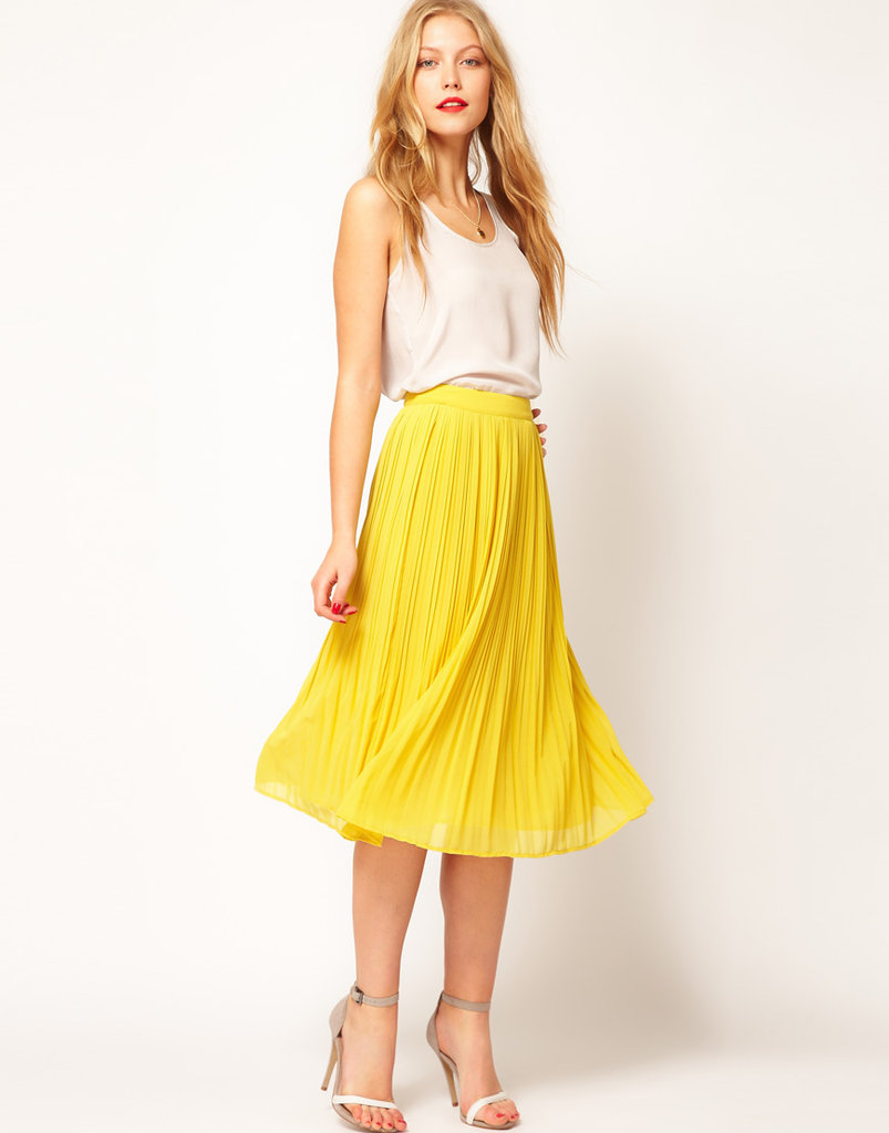 We love this softly pleated midi skirt because it not only evokes an ultraladylike feel, but it packs a colorful punch, too. ASOS Skirt With Soft Pleats ($47)