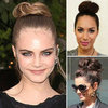 Cara Delevingne, Cheryl Cole, Leona Lewis&#039; High Bun Style