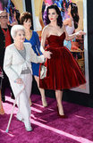 The film features her parents, and even her grandma, who is pictured here walking the purple carpet with her superstar granddaughter at Paramount's premiere of Katy Perry Part of Me earlier this week.