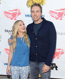 Kristen Bell was all smiles as she posed with her man Dax Shepard.