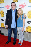 Tom Arnold and Kristen Bell stepped onto the red carpet at the Hit and Run screening in LA.