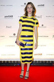 Sofia Coppola showed off the chicest kind of stripes on a t-shirt dress sophisticated enough for the amfAR Inspiration Night in Paris.