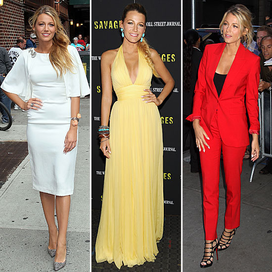 Blake Lively turns heads in showstopping looks while promoting her new film Savages.