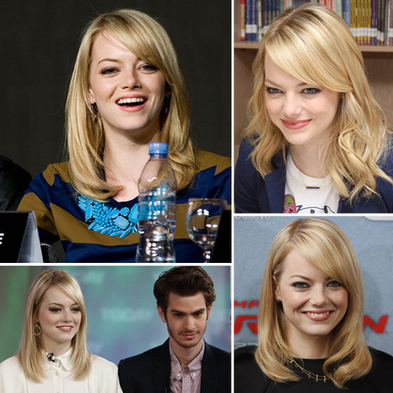 Get a closer look at all of Emma Stone's jewels straight from her Amazing Spider-Man tour.