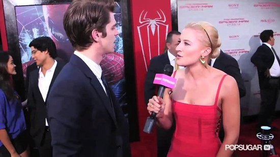 Andrew Garfield Gets In a Playful Dig at Emma Stone Over Their Kissing Scene