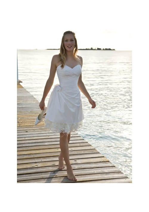 simple knee length wedding dresses